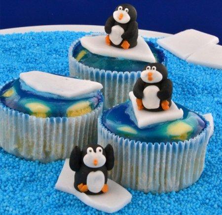 Süße Polarwelt - Orangen Pralinen Cupcakes