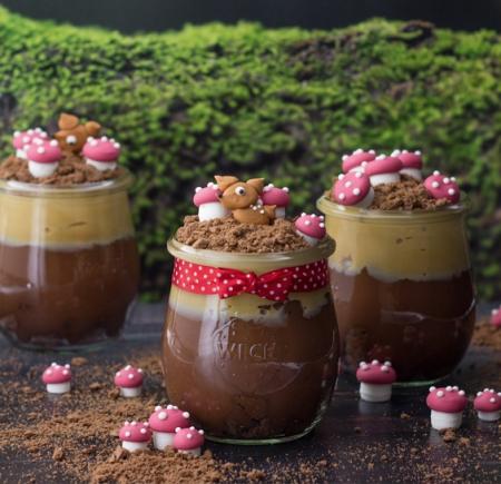 Türkischer Schokoladenpudding mit Toffeecreme