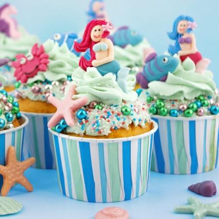 Meerjungfrauen Cupcakes