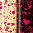 Transferfolien für Schokolade, Herzen rot