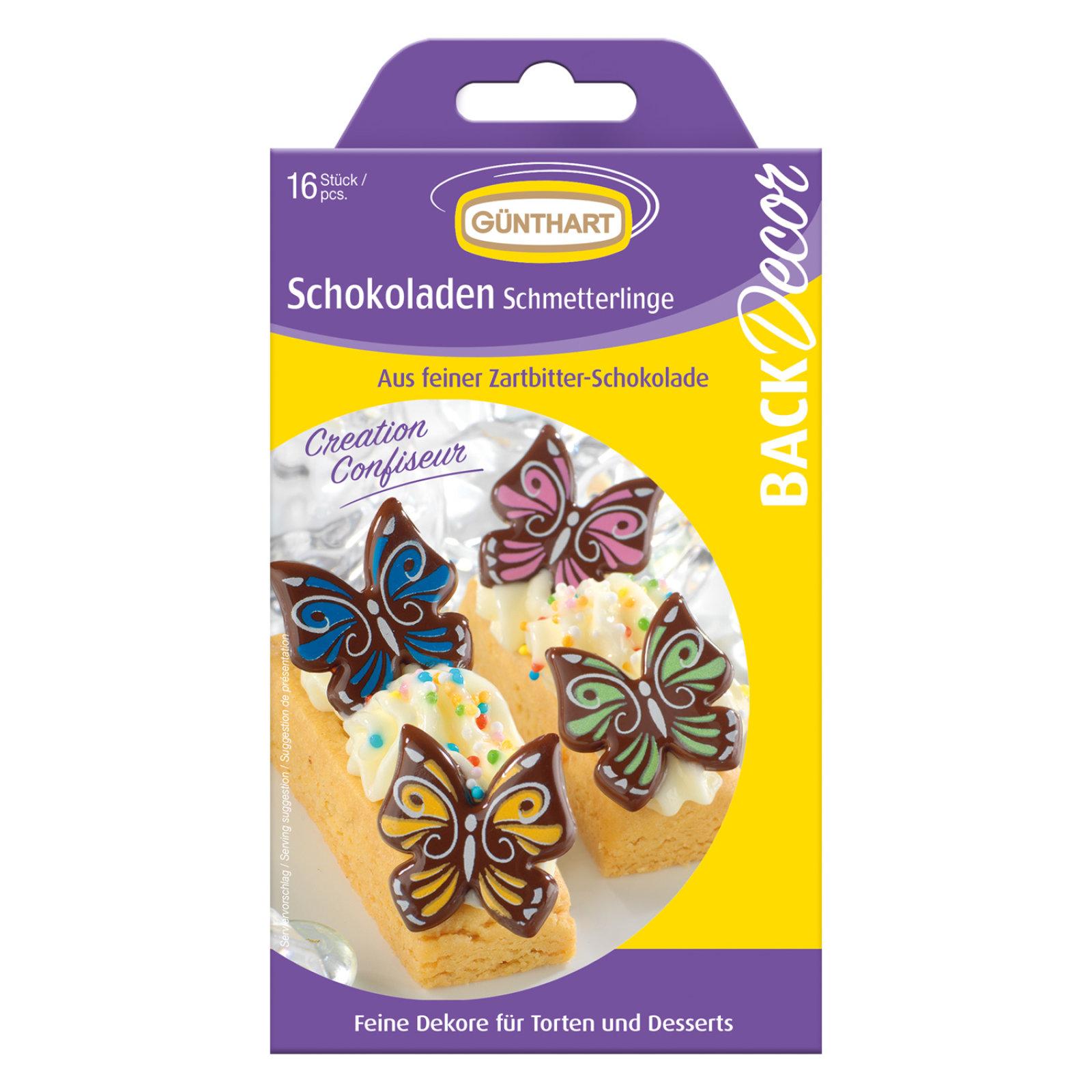 16 Schokoladen Schmetterlinge
