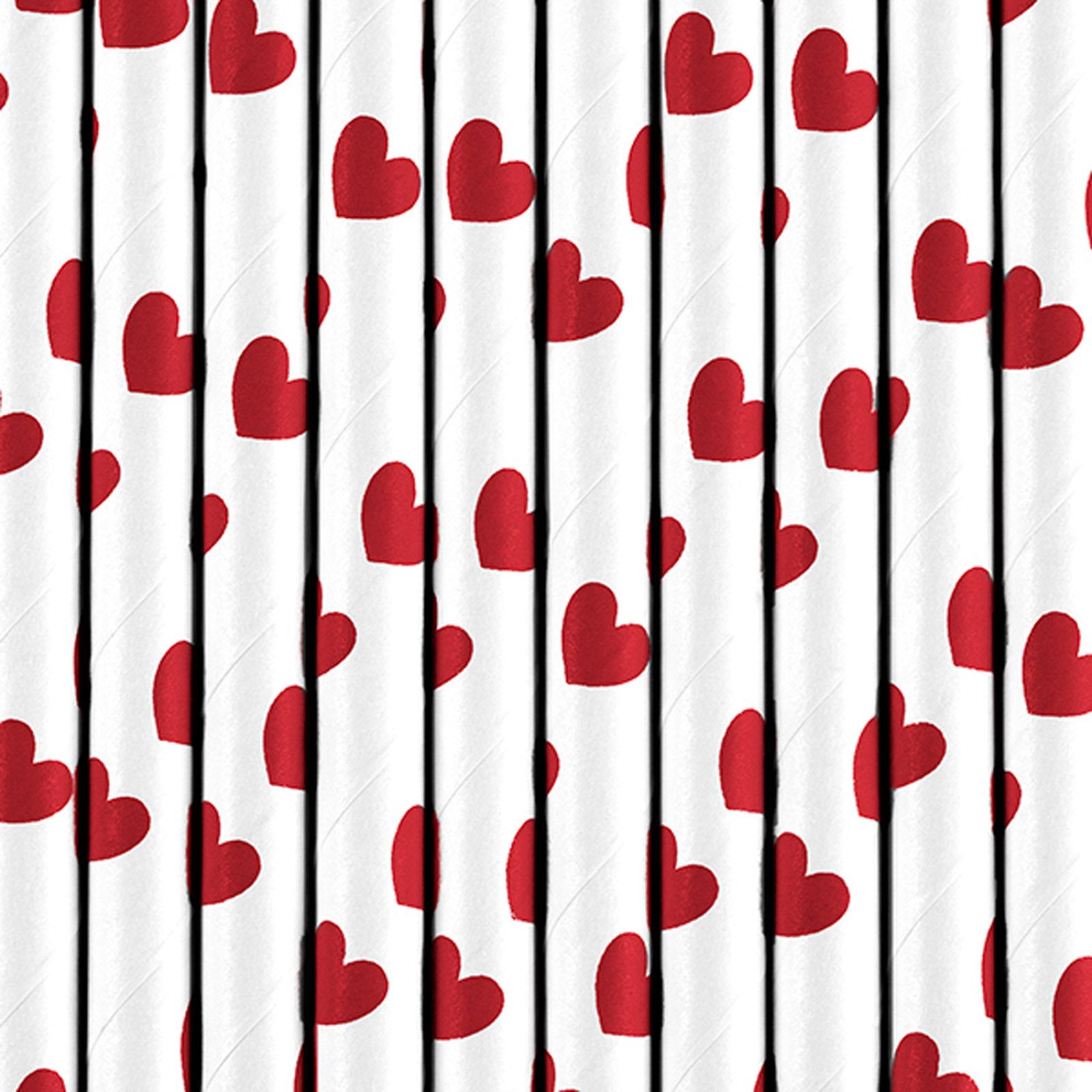 10 papier strohhalme rote herzen der ideen. Black Bedroom Furniture Sets. Home Design Ideas