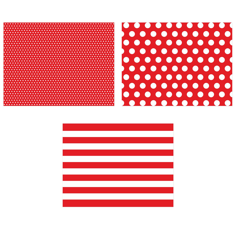 12 papier platzsets rot wei der ideen. Black Bedroom Furniture Sets. Home Design Ideas