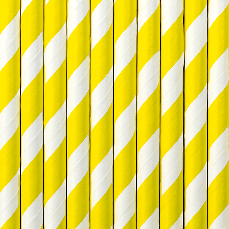 10 Strohhalme, gelb