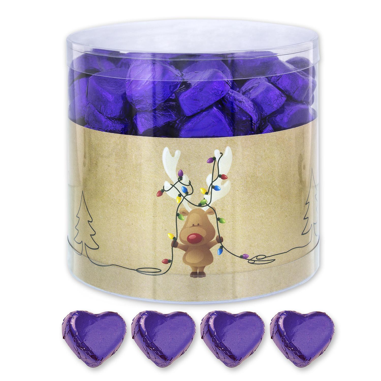 150 schokoladenherzen lila rudolf mit lichterkette weihnachten der ideen - Lichterkette lila ...