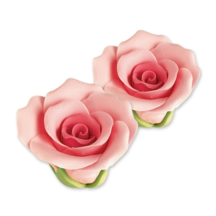 30 Feinzucker Rosen mittel rosa | 40mm