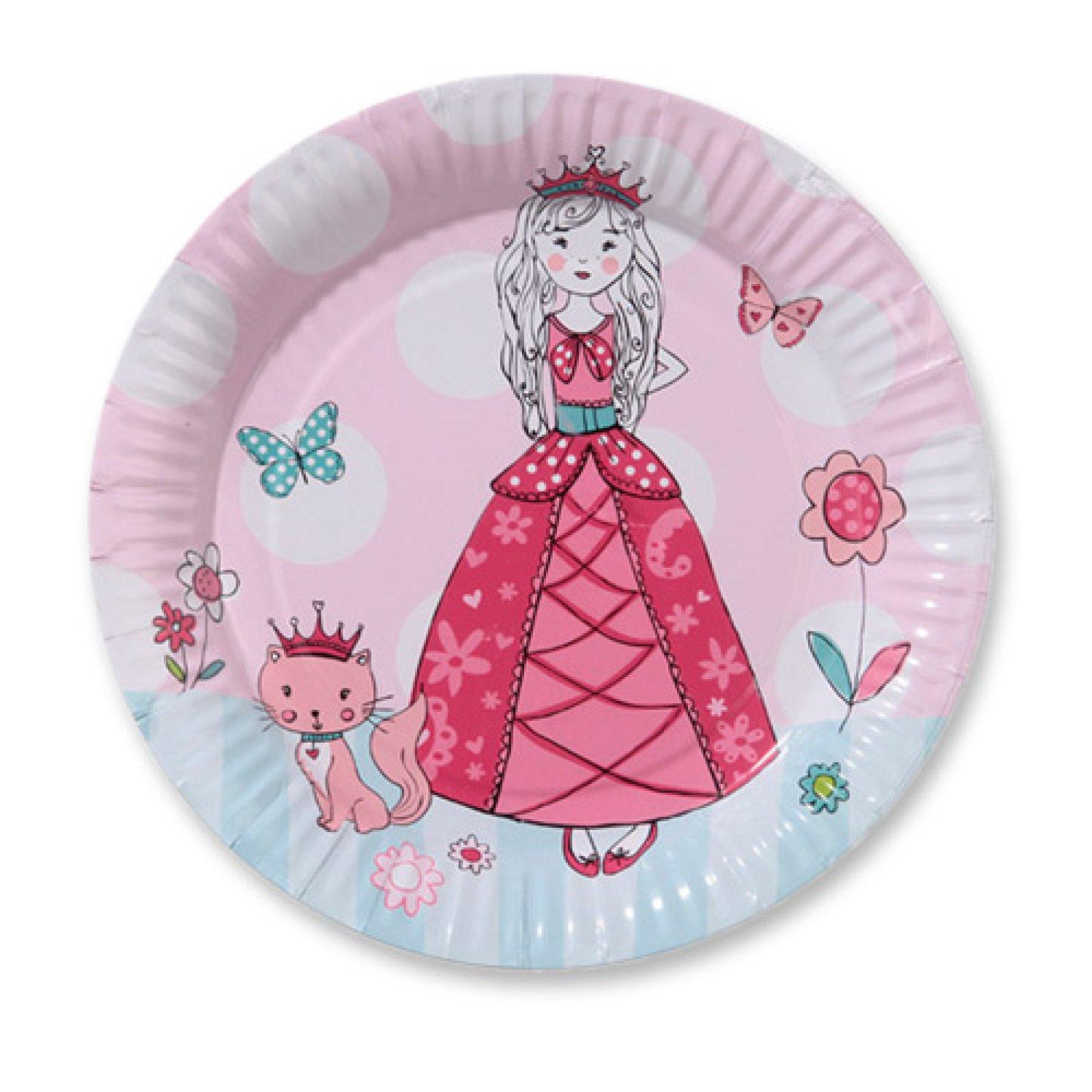 Prinzessin Pappteller In Rosa Weiss Der Ideen