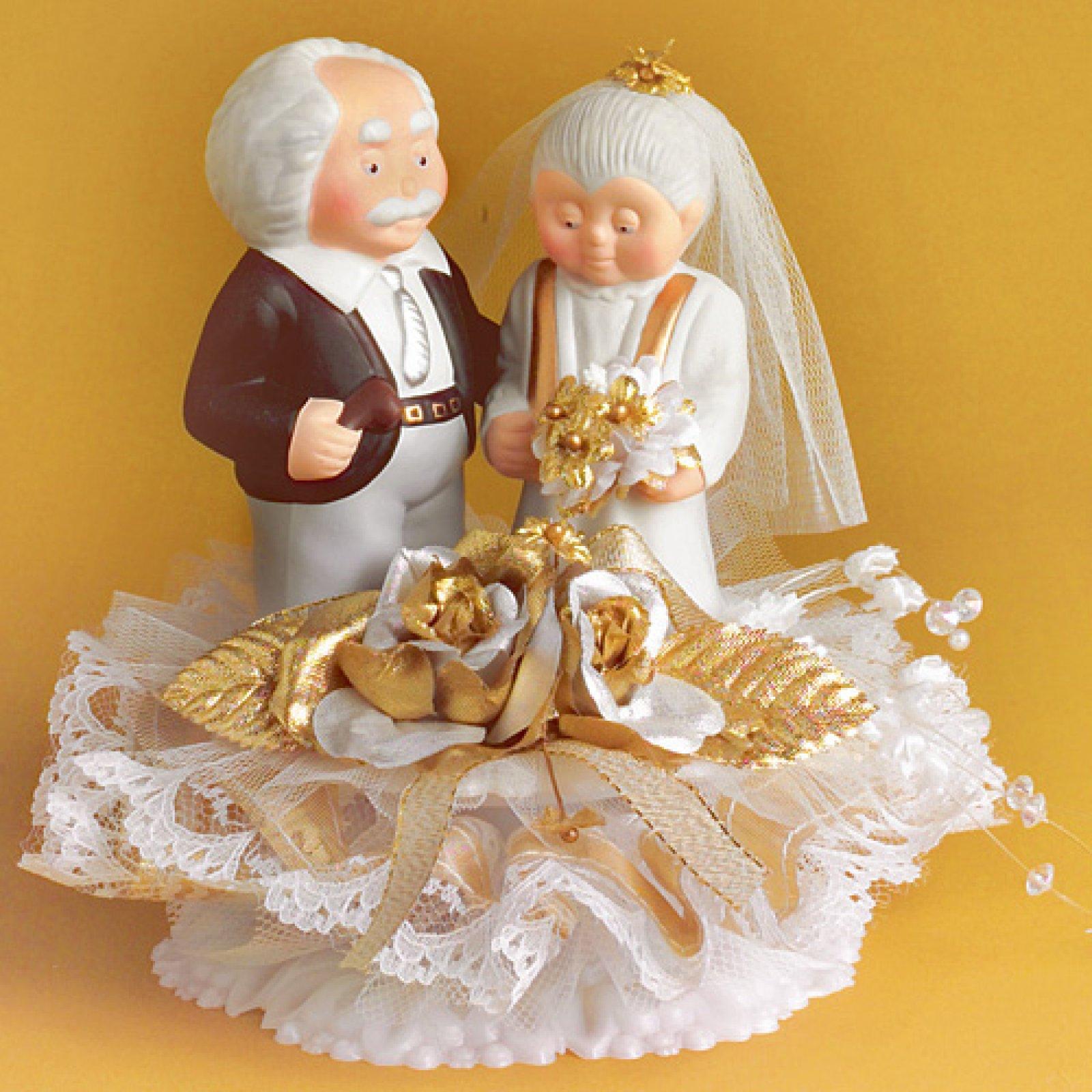Подарок на золотую свадьбу родителям или бабушке, дедушке 60