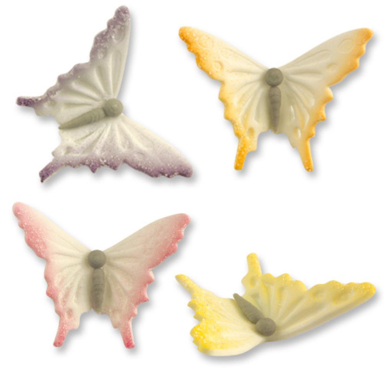 Schmetterlinge aus Zucker, 24 Stück | der-ideen-shop.de