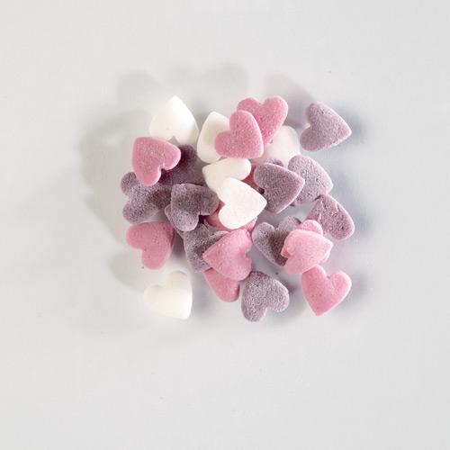 1,5 kg Streudekor, Zucker-Herzen, weiß, rosa, lila | der-ideen-shop.de