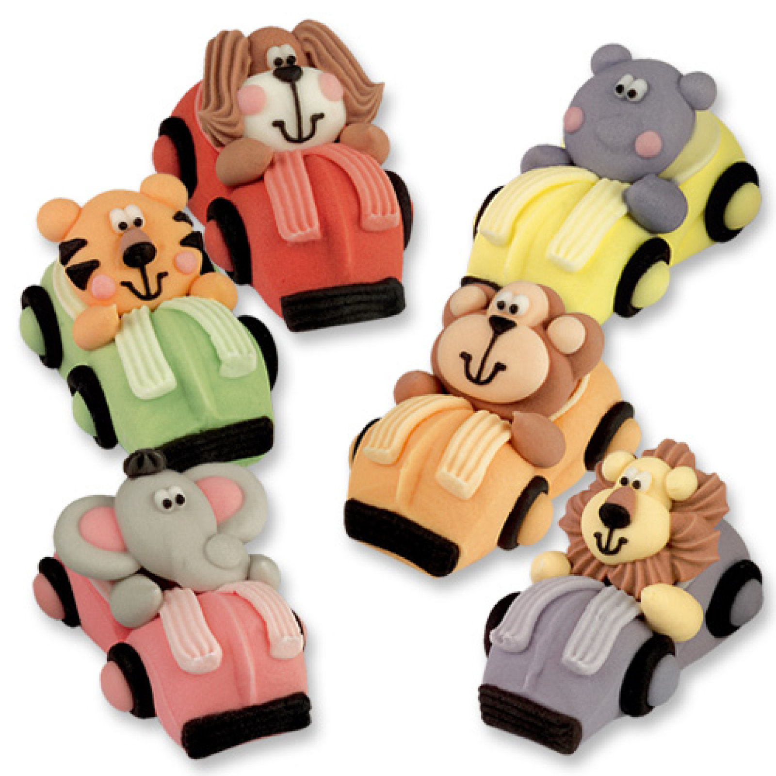 12 Zucker- Tiere im Auto | der-ideen-shop.de